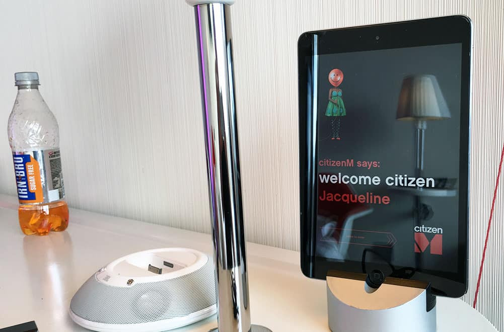 Nightstand at CitizenM Hotel, Glasgow