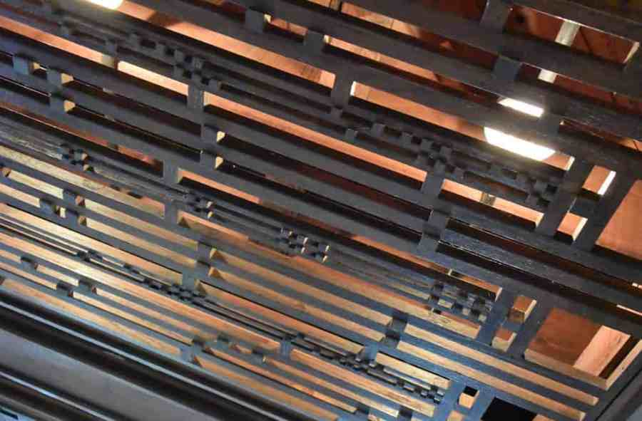 Lattice grating at Frank Lloyd Wright's Robie House