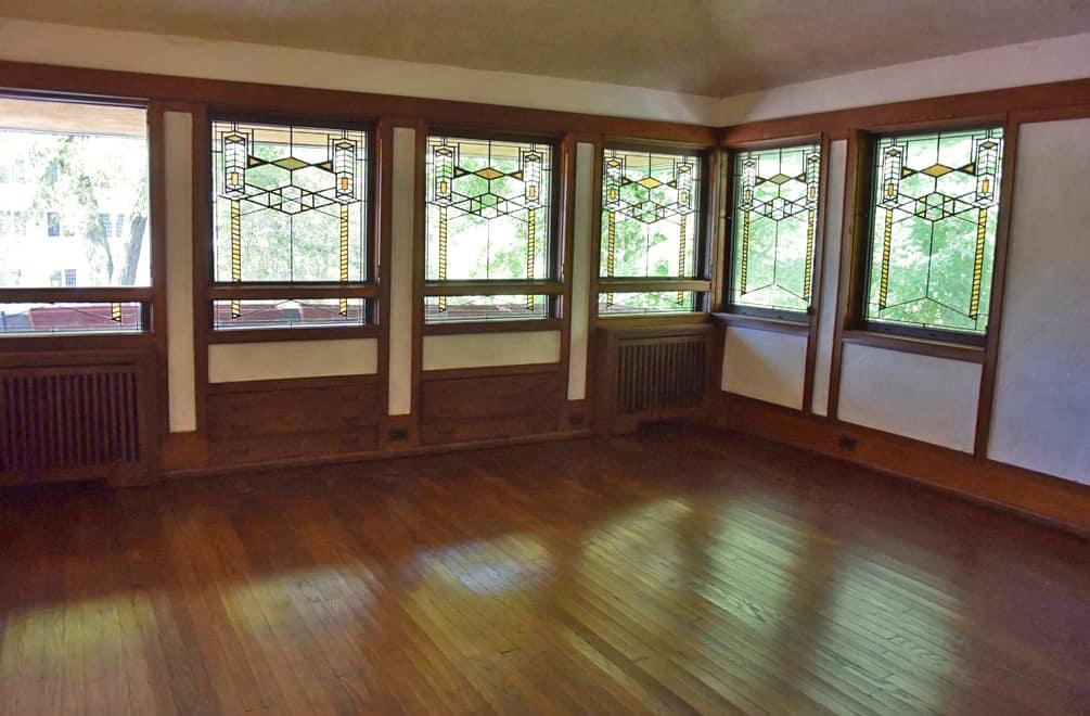 Robie House upstairs wood floor