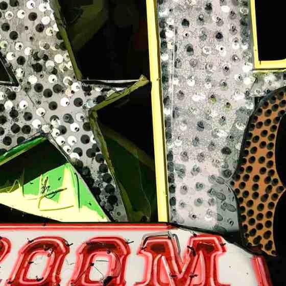 Neon letters at Brilliant exhibit at the Neon Museum Las Vegas