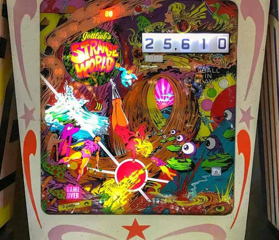 Strange World pinball game at Pinball Hall of Fame, Las Vegas