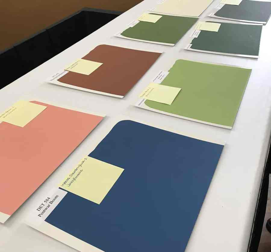 Mid-century color swatches