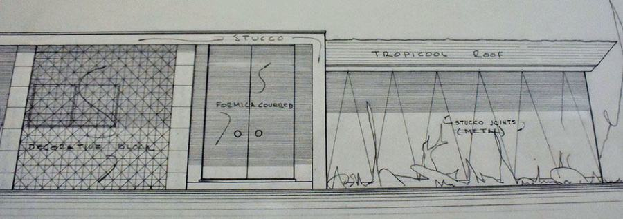 Detail of architect Hugh Taylor plan