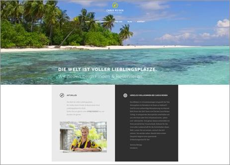 Homepage Carus Reisen