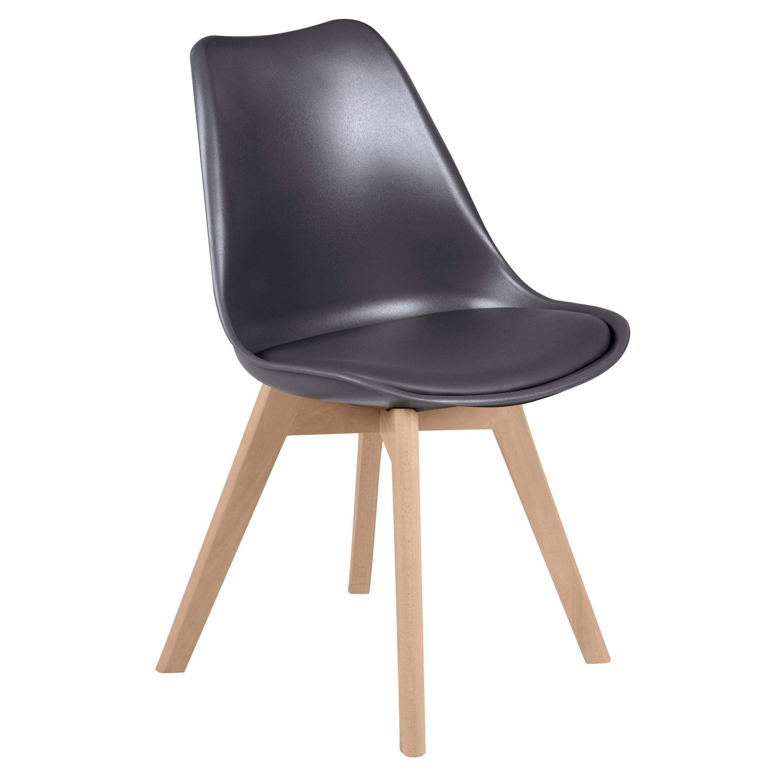 chaise scandinave gris fonce lot de 2 salle a manger cuisine design lab furniture
