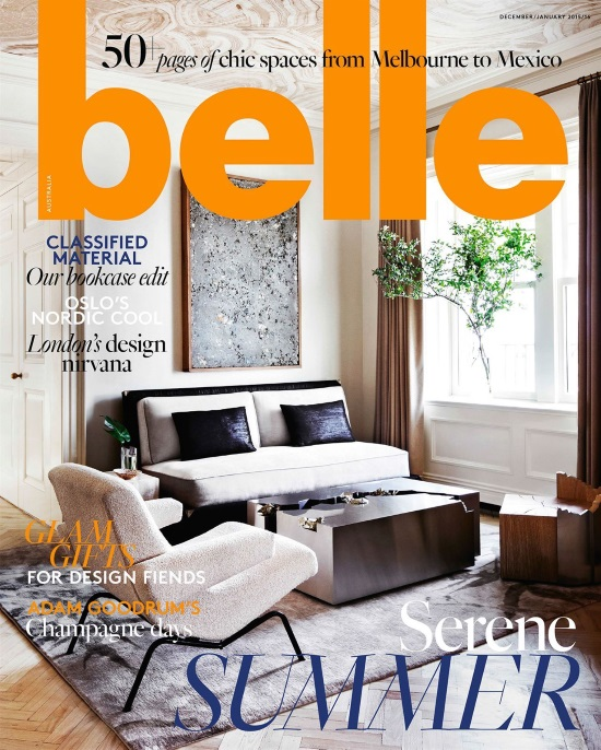 Belle Magazine December January 2015-16 - Interior Design Magazines | designlibrary.com.au