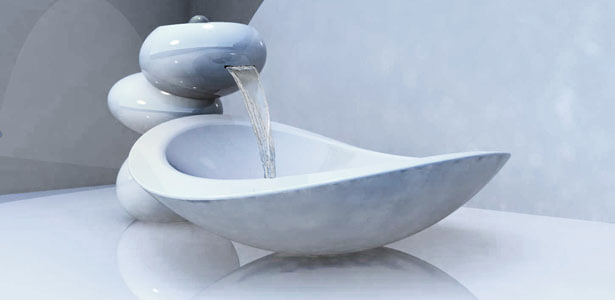 Water Stone Faucet And Sink System Elegance By Omer Sagiv