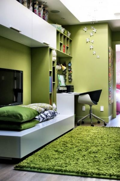 green home office How to use Green Color for Interior Design – Interior