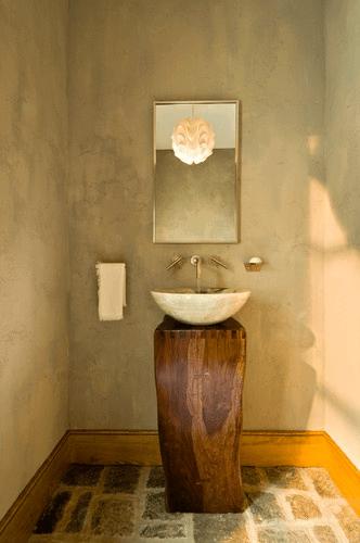 Rustic industrial bathrooms interior design design news for Industrial design news