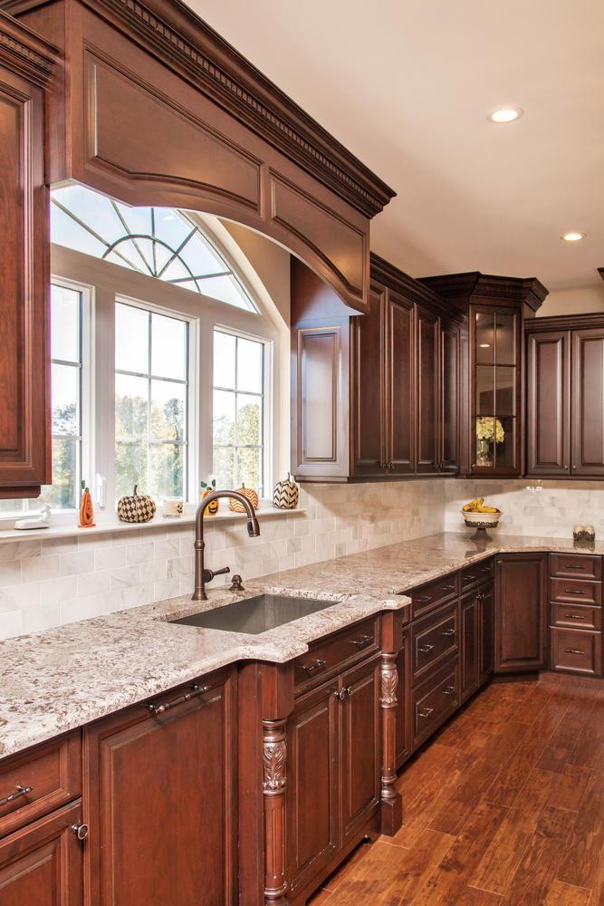 Dark Brown and White Kitchen Millstone New Jersey by