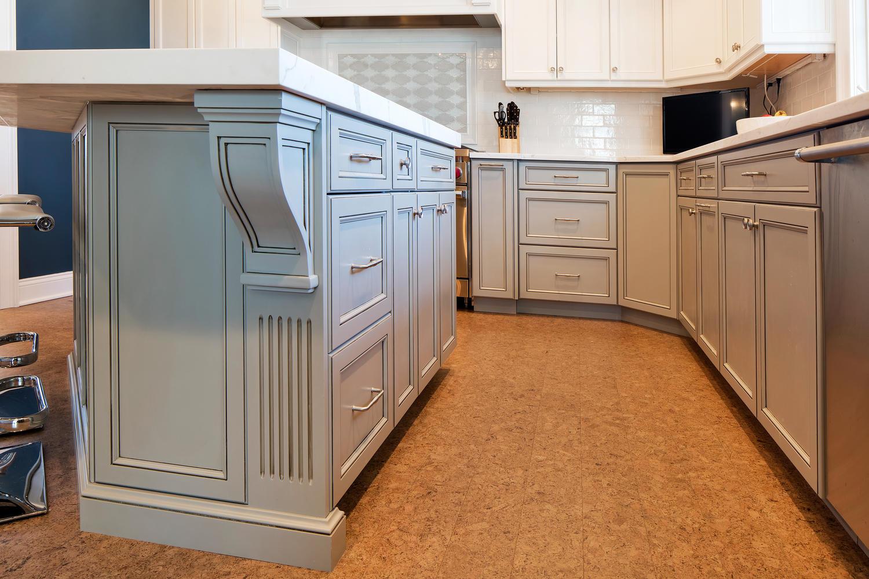 Custom Grey and White Kitchen Belmar New Jersey by Design Line Kitchens