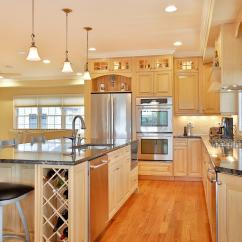 Kitchen Cabinets Light Wood Modern Pendant Lighting For Natural Stained Toms River New Jersey By