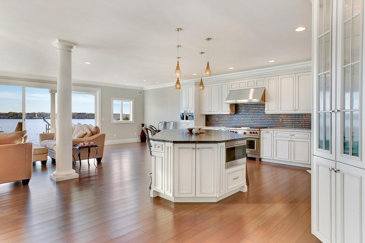 glazed kitchen cabinets automatic faucet beachfront toms river new jersey by design line ...