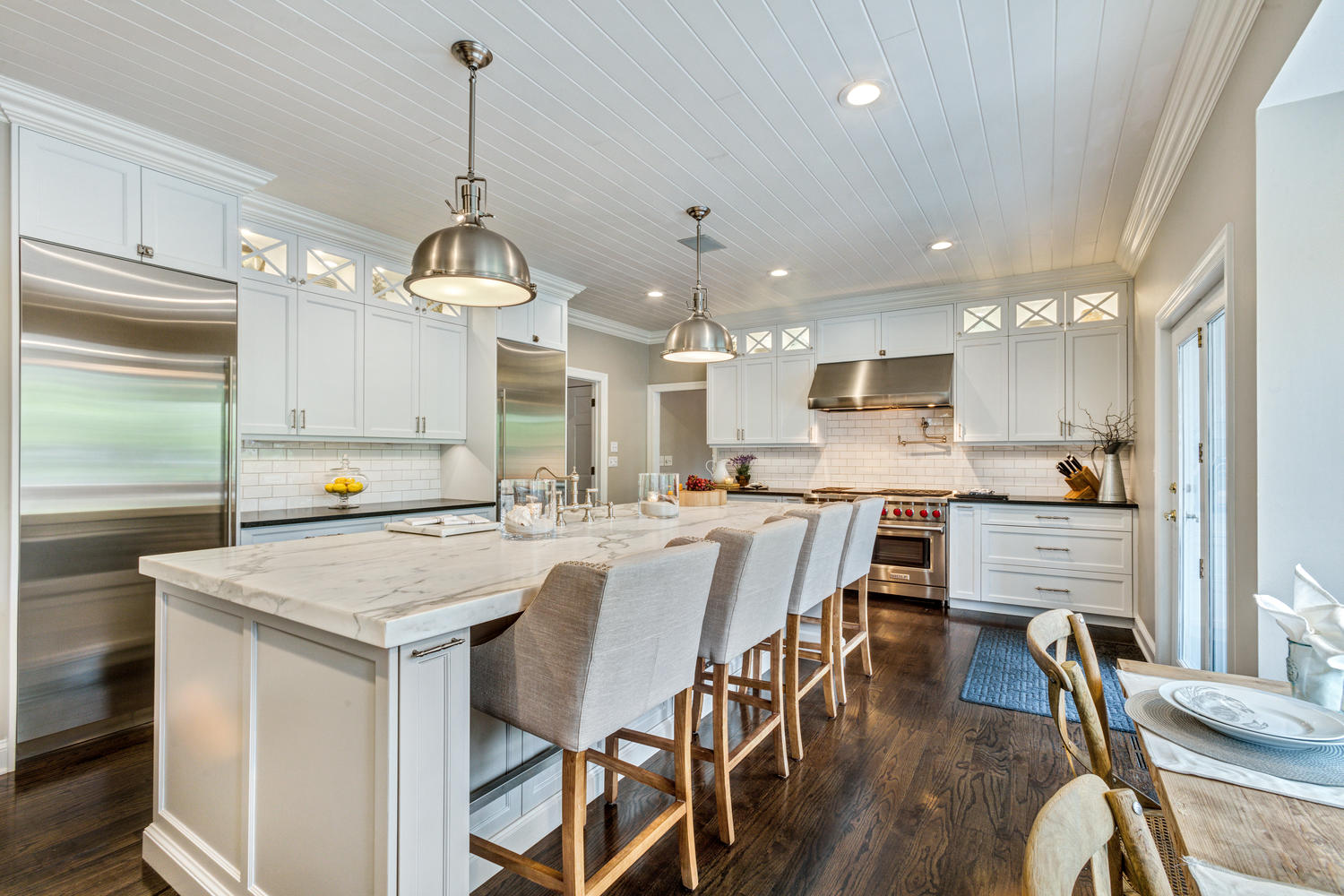 how to build a kitchen island with seating the white perfected wall township new jersey by ...