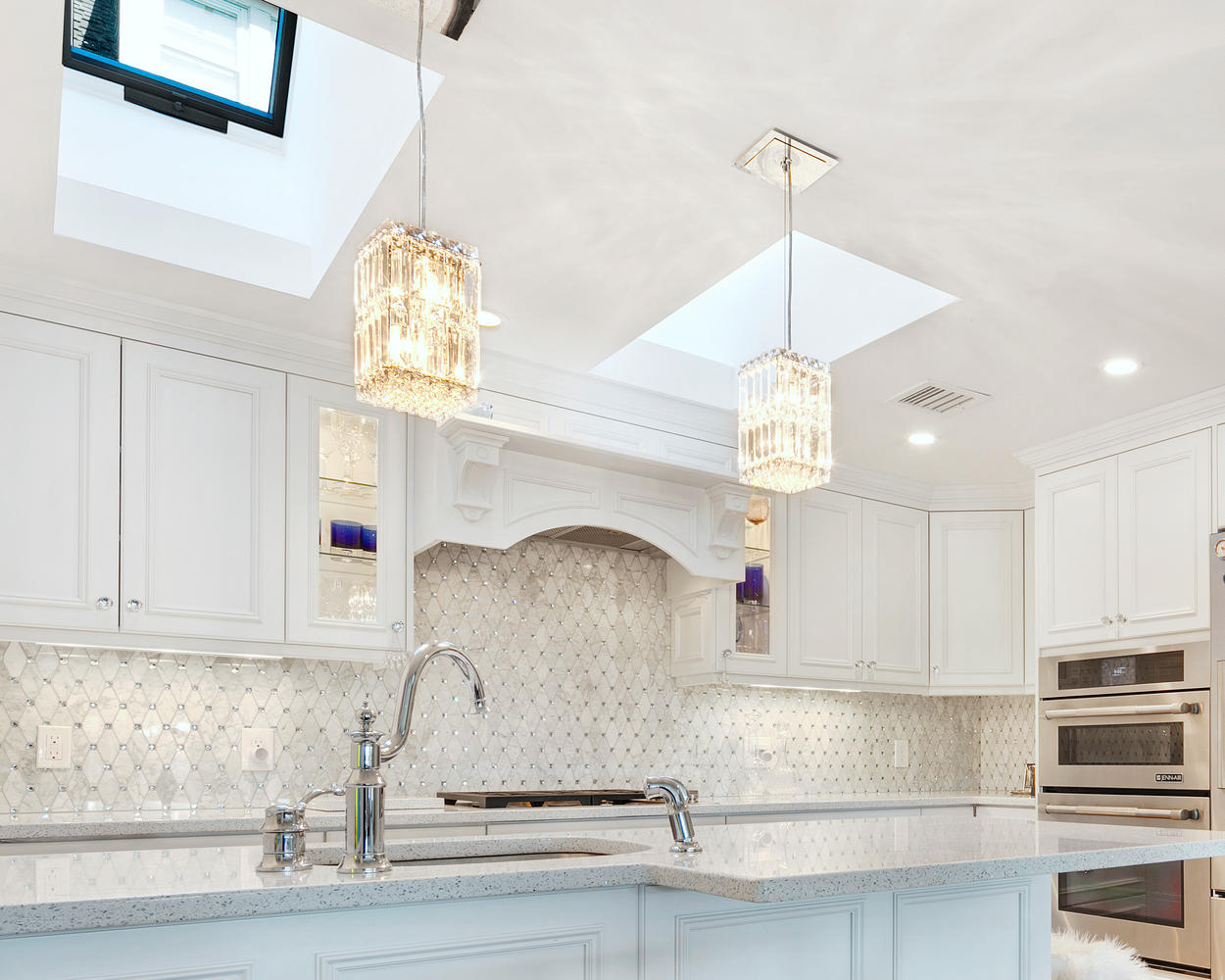 White Kitchen with Glamour Ocean Grove New Jersey by