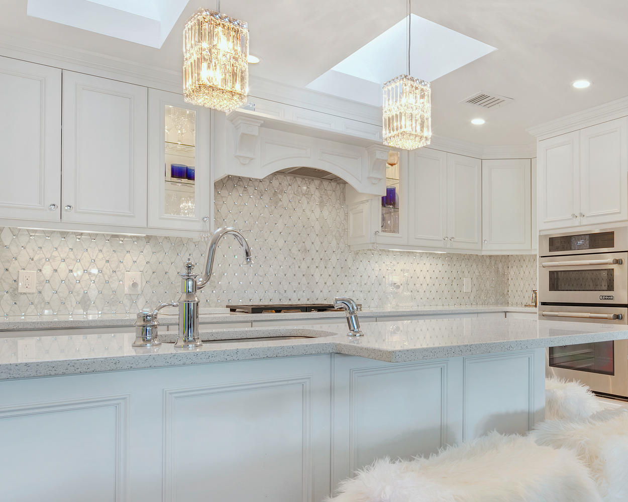 kitchen backsplash gallery how to add a pantry your white with glamour ocean grove new jersey by ...