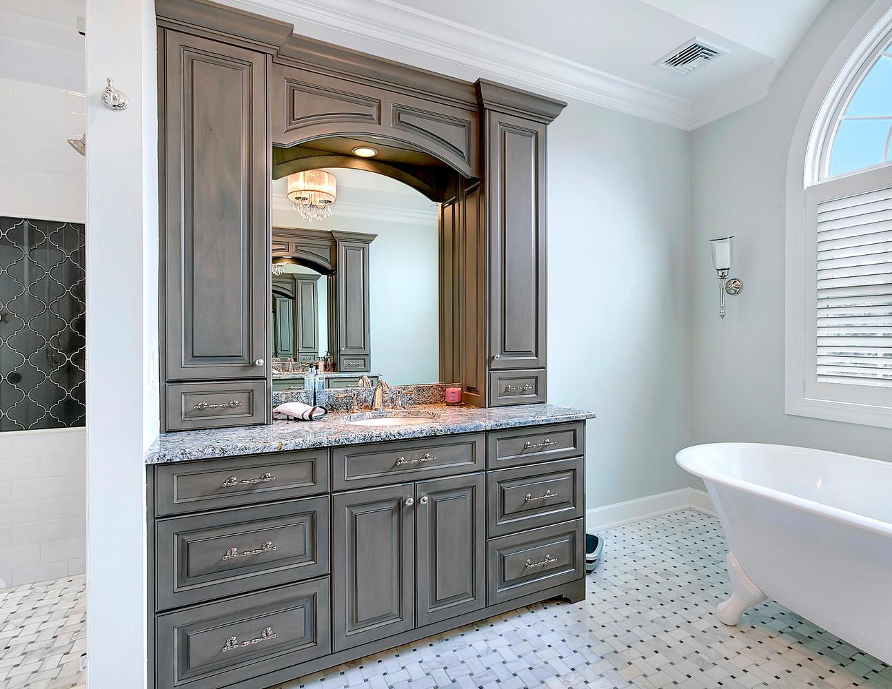Custom Vanity  Bathroom Cabinetry  Design Line Kitchens