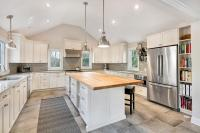 Transitional Kitchen with Cathedral Ceiling Ocean New ...