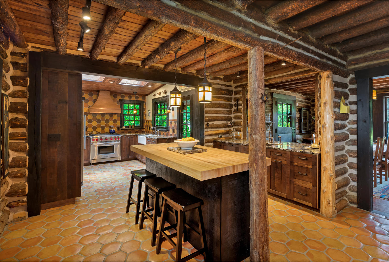 Rustic Barn Wood Kitchen Interlaken New Jersey by Design