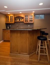Custom Basement Bar Wall NJ by Design Line Kitchens