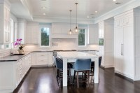 White Transitional Kitchen Mantoloking New Jersey by ...