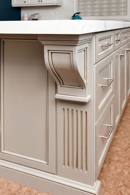 Custom Grey and White Kitchen Belmar New Jersey by Design