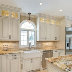 Island Kitchen Hood Gray Wash Cabinets A Winning Classic Allenwood New Jersey By Design Line Kitchens