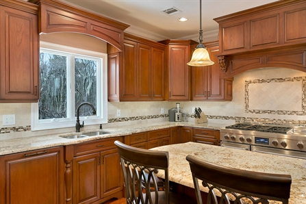 Designing With Cherry Cabinets Brick New Jersey By Design Line Kitchens
