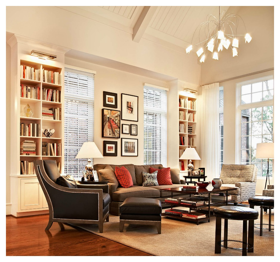 help me accessorize my living room heater bookshelves 2 at the ncstate chancellor s house design lines ltd interior raleigh