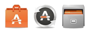 Ubuntu icons watered