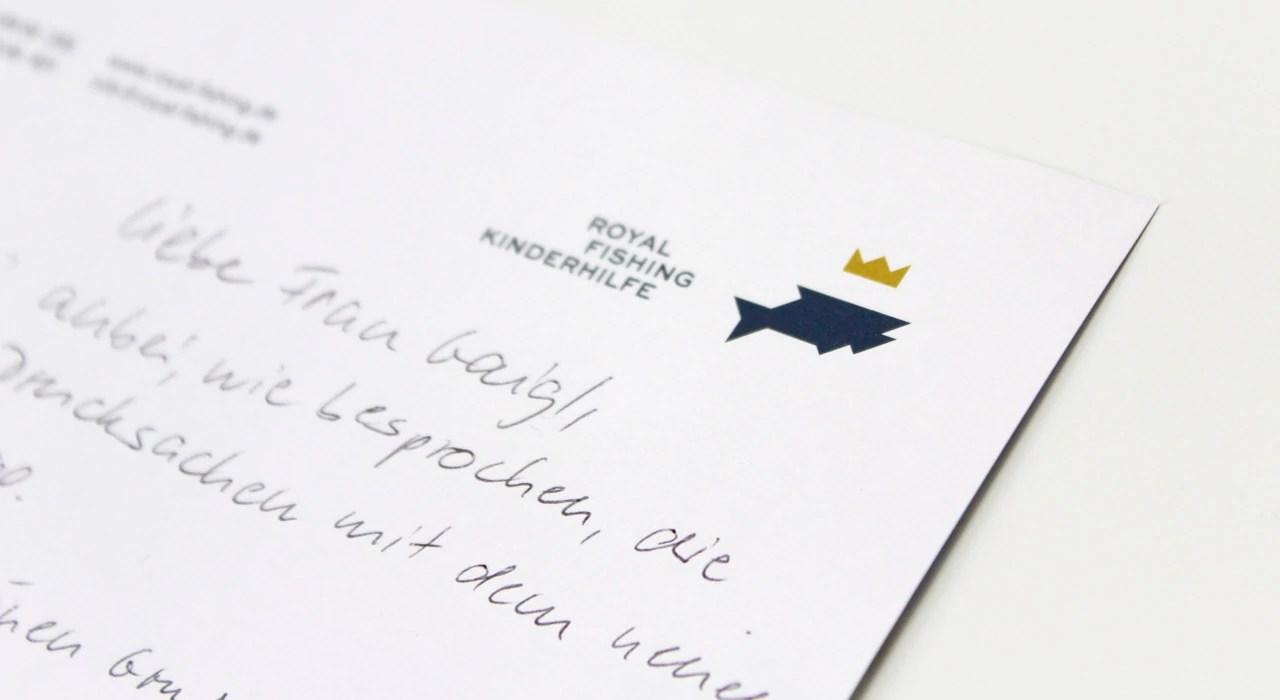 Corporate Design für die Royal Fishing Kinderhilfe