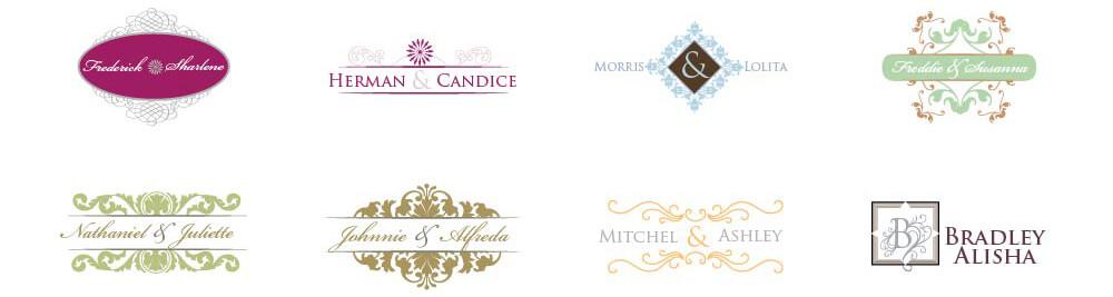 initial wedding monogram maker