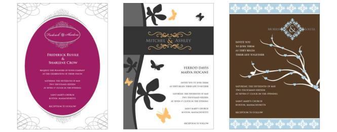 Wedding Card Design Samples