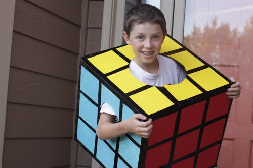 Rubik's Cube DIY Costume