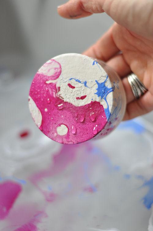 DIY   Hacer efecto mármol con pintauñas