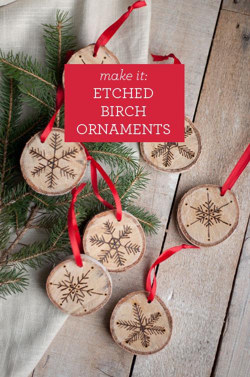 DIY: Etched Snowflake Ornaments in Birch. So easy! | Design Mom - Etched Snowflake Ornaments in Birch featured on top lifestyle blog, Design Mom