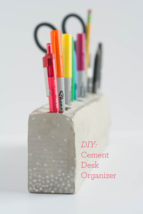 DIY: Cement Pencil Holder  Design Mom