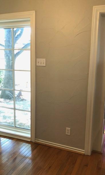 Blank wall ready for breakfast nook
