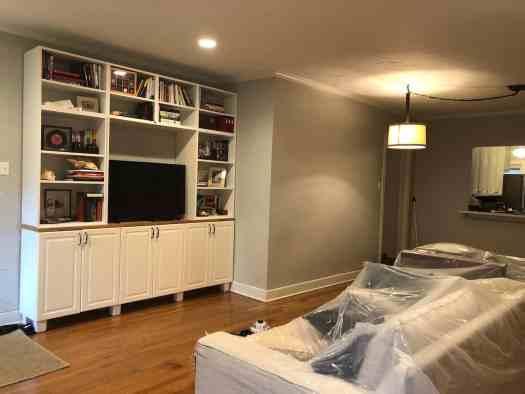 living room gray