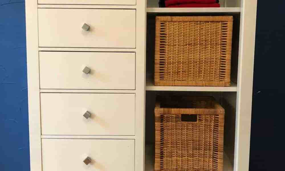 dresser makeover with paing and new hardware