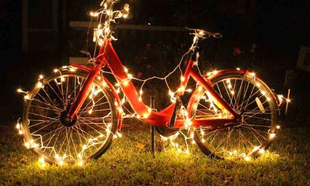 DIY bicycle Christmas Decoration