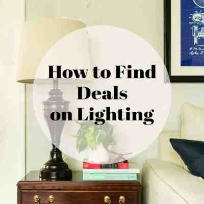 Finding Deals on Lighting
