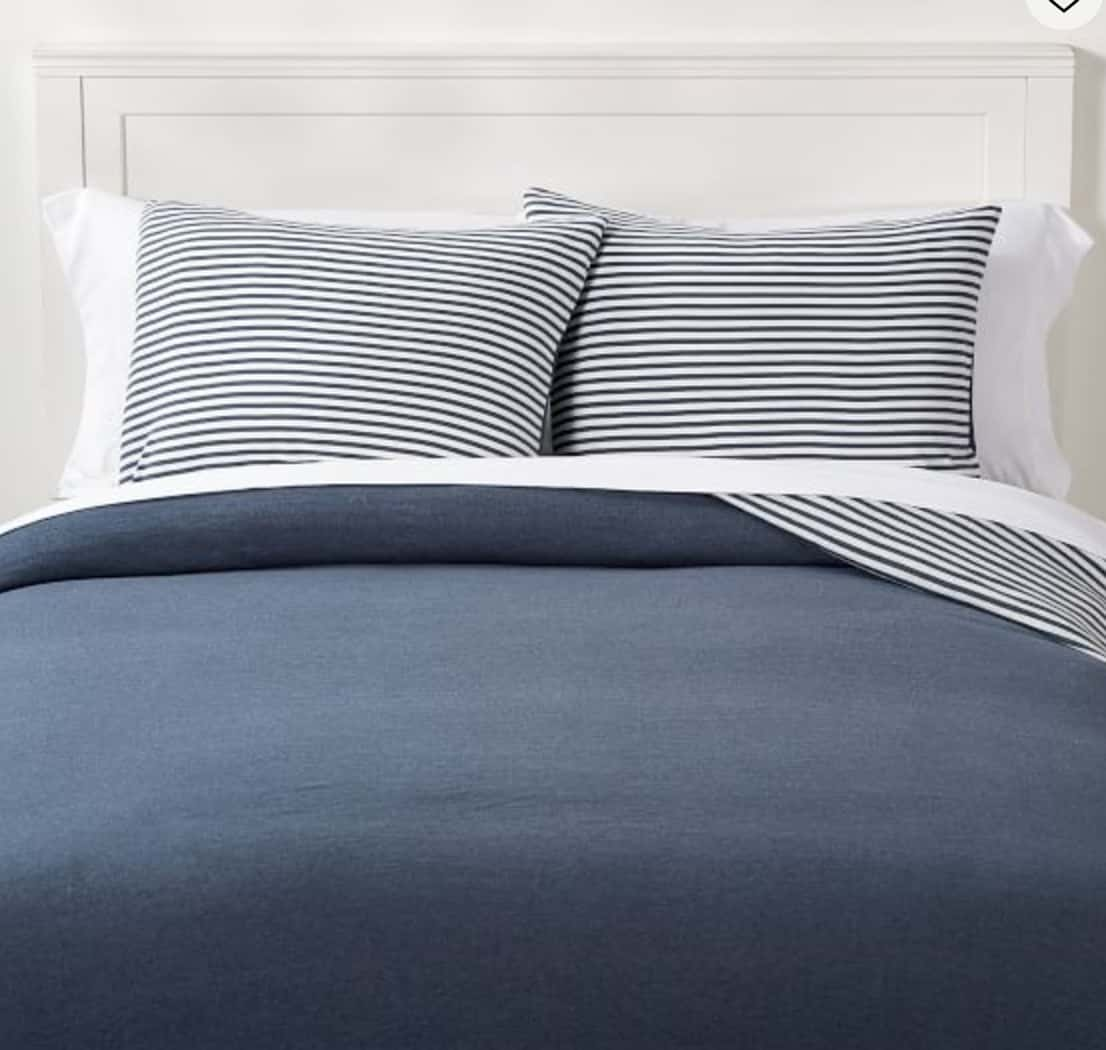 striped reversible bedding