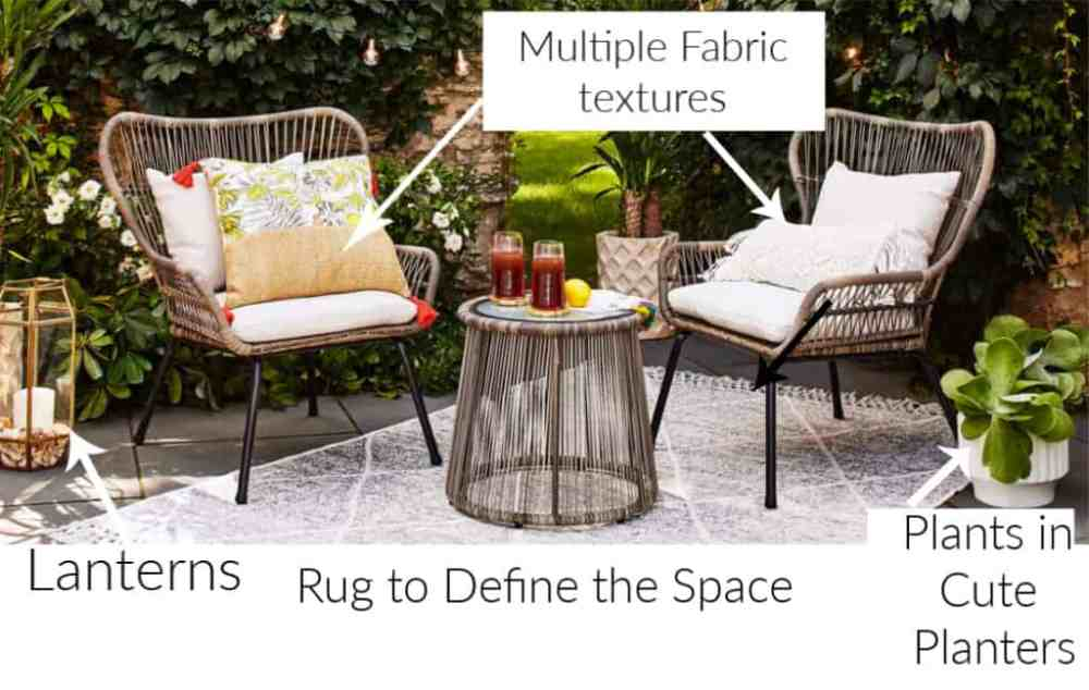 Essential items for a cozy porch