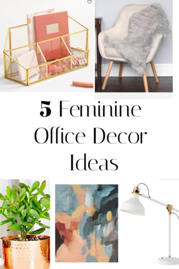 Feminine Office Decor Ideas