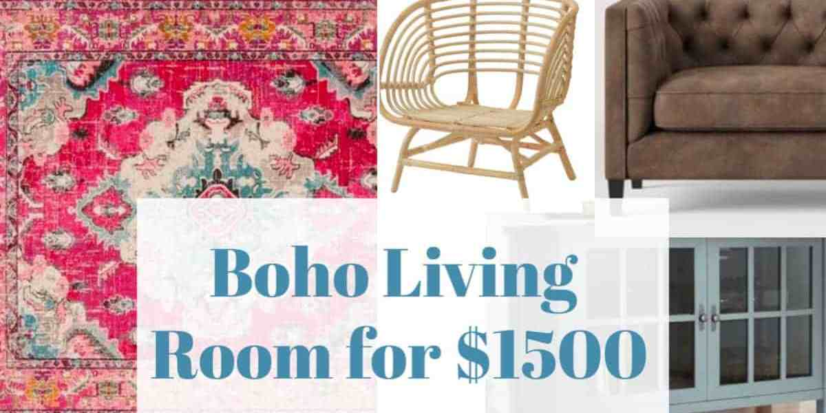 Boho Living Room for $1500