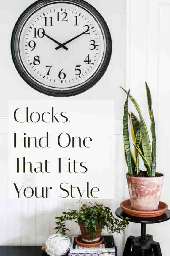 Clocks can take the place of art in any room.  They come in every style and color, find one to fit your home's decor.
