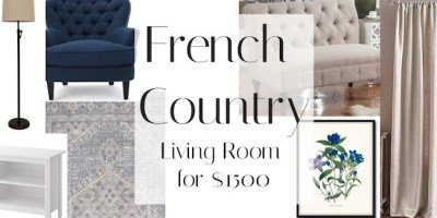 French Country Living Room For $1500