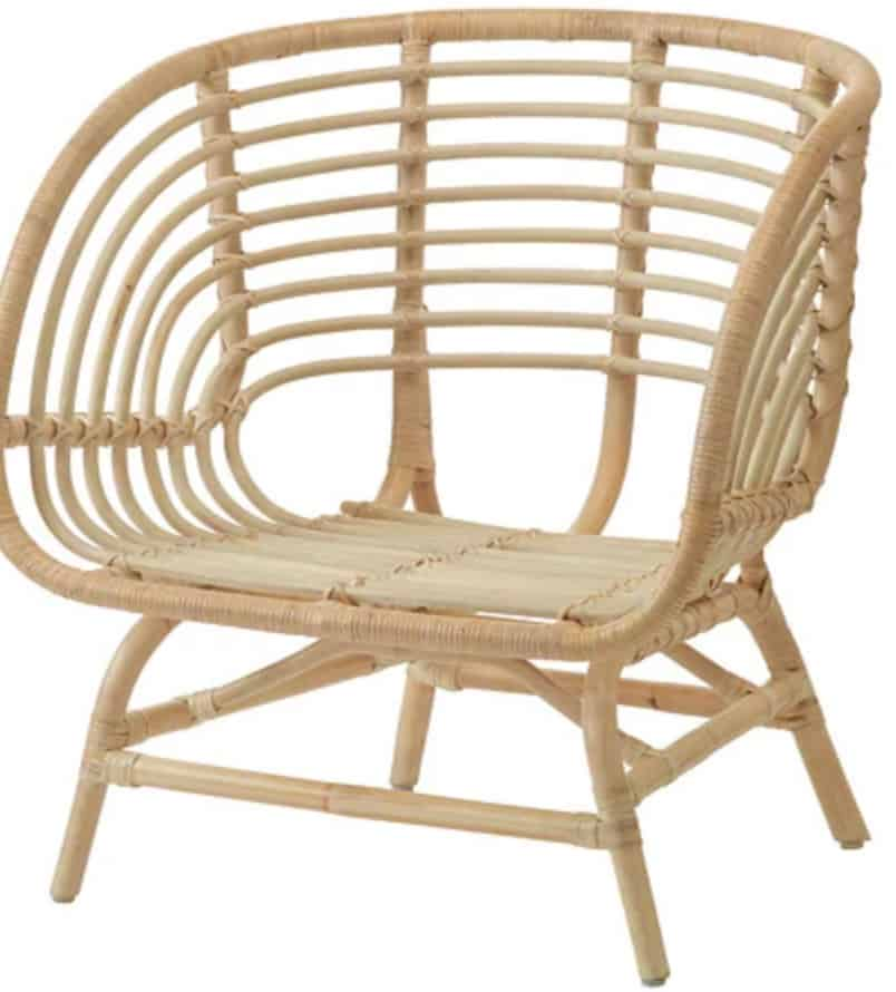 ikea rattan accent chair