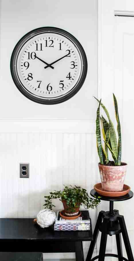 Clock hanging in the kitchen